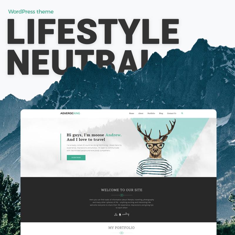 Adverocking: tema de WordPress de Elementor neutro para el blog de estilo de vida