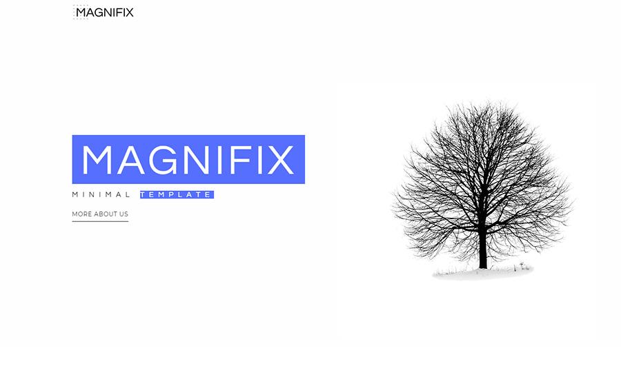 Magnifix - Thème WordPress Elementor minimaliste créatif