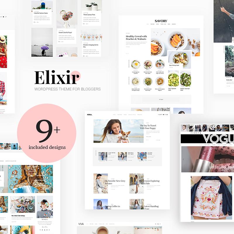Elixir: tema de WordPress para blogs de viajes, comida, moda y más