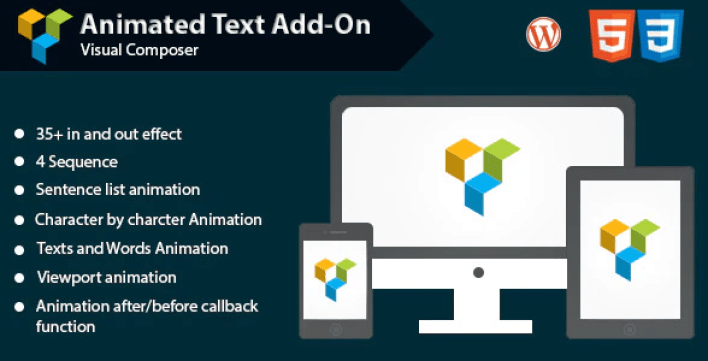 Animated text add on for wpbakery page builder formerly visual composer plugin wordpress