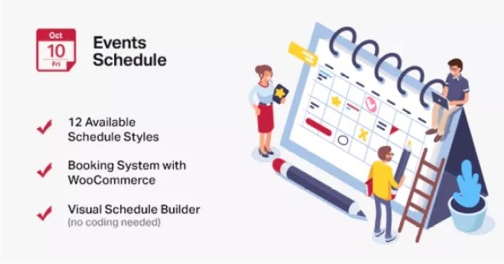 Расписание событий плагин календаря событий wordpress