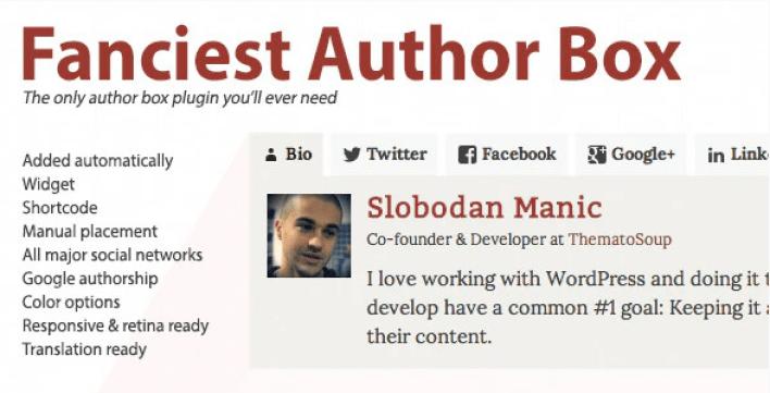 Fanciest author box plugin wordpress
