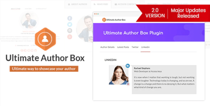 Ultimate author box responsive post article author section plugin wordpress