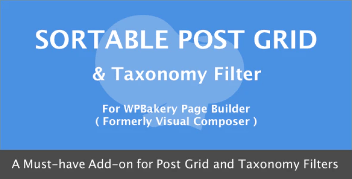 Wpbakery page builder sortable grid taxonomy filter plugin wordpress