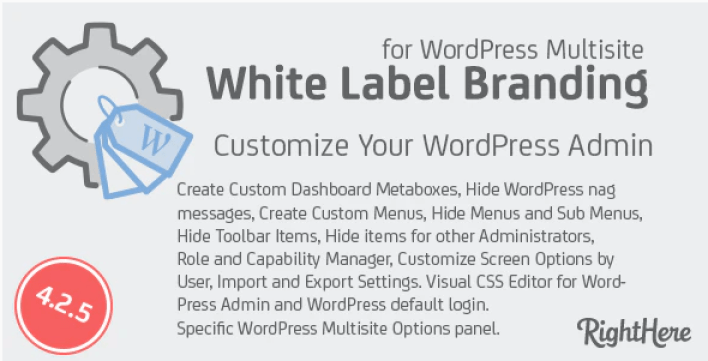 White label branding for wordpress multisite plugin wordpress