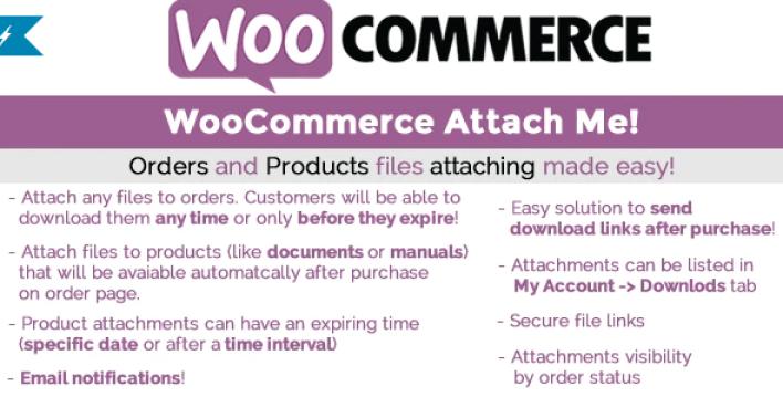 Woocommerce attach me plugin wordpress