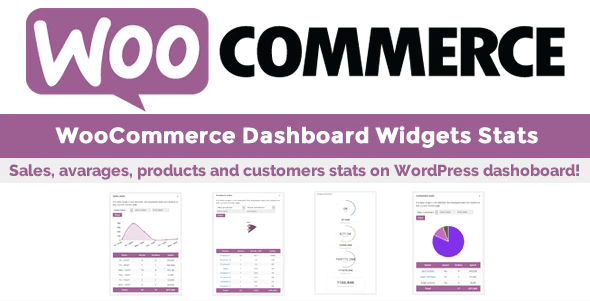 Woocommerce dashboard widgets stats plugin wordpress 1