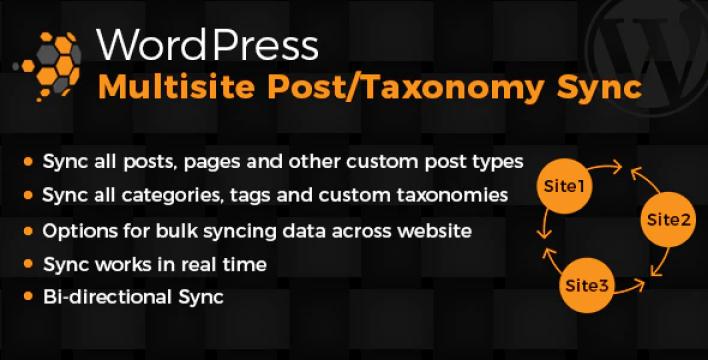 Wordpress multisite posts taxonomies sync plugin wordpress