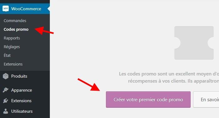 Code promo woocommerce