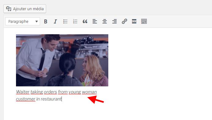 Image legende classic editor