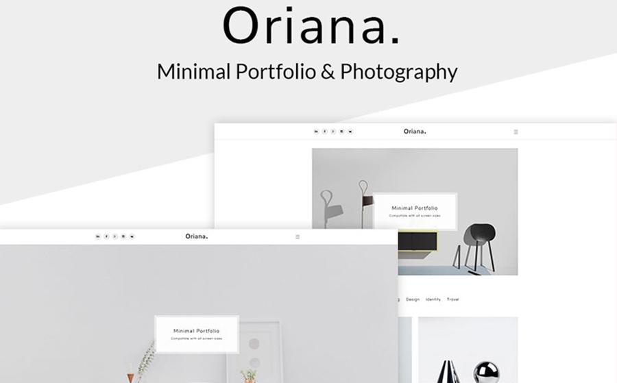 Oriana - Thème WordPress minimaliste pour portfolio et photographie