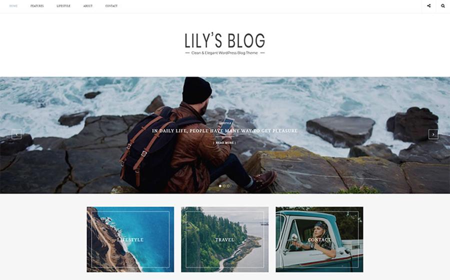 Lily's Blog - Thème WordPress minimaliste propre pour blog en ligne