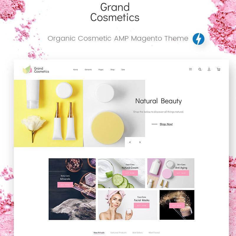 GrandCosmetics – Thème Magento pour Magasin de cosmétiques
