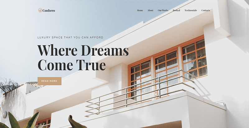 Tema Conforro wordpress membuat website agen real estate