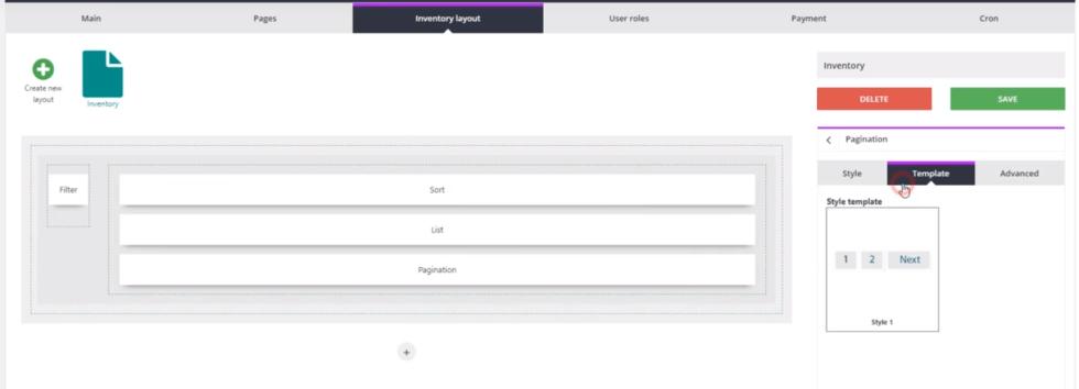 Inventory layout page ulisting plugin wordpress