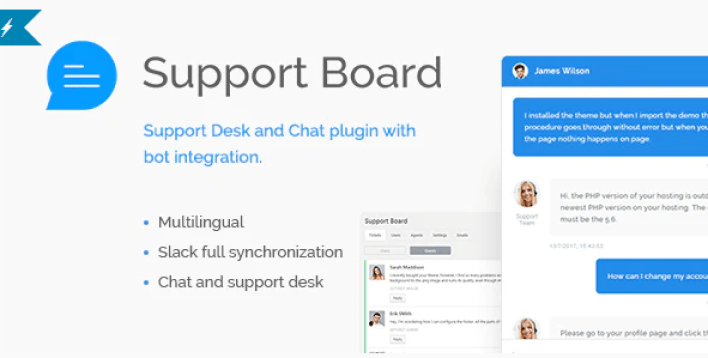 Support board chat and help desk bot chat wordpress plugin
