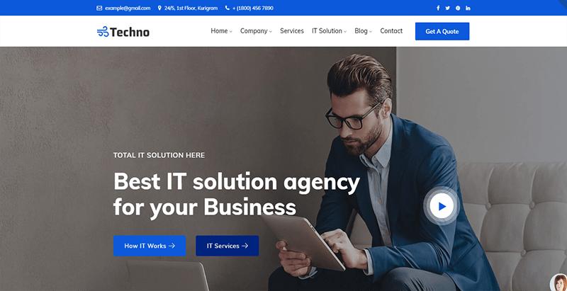 Techno theme wordpress creer site web entreprise agence