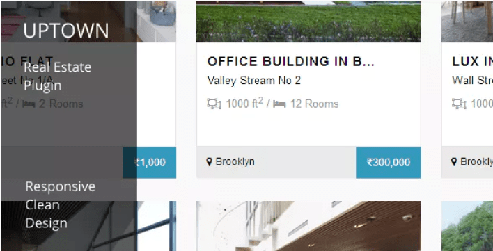 Uptown real estate plugin wordpress immobilier