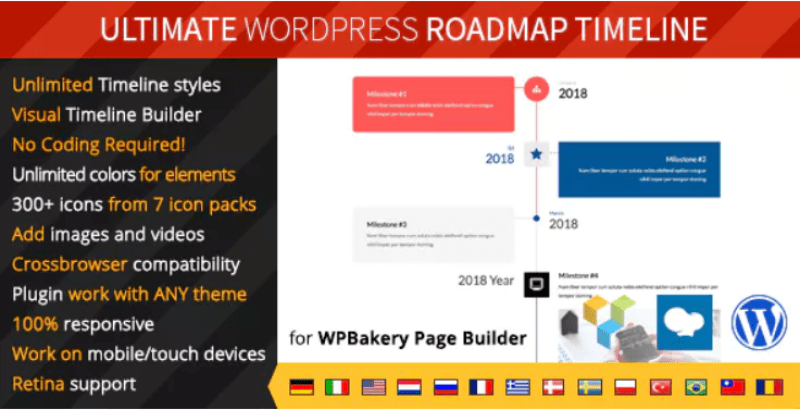 Ultimate roadmap timeline – responsive wordpress timeline plugin