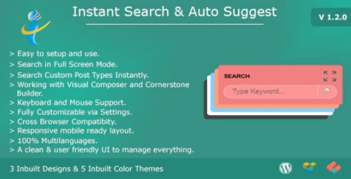 Wp instant search auto suggest plugin wordpress