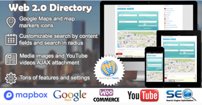 Web 2.0 directory plugin wordpress immobilier