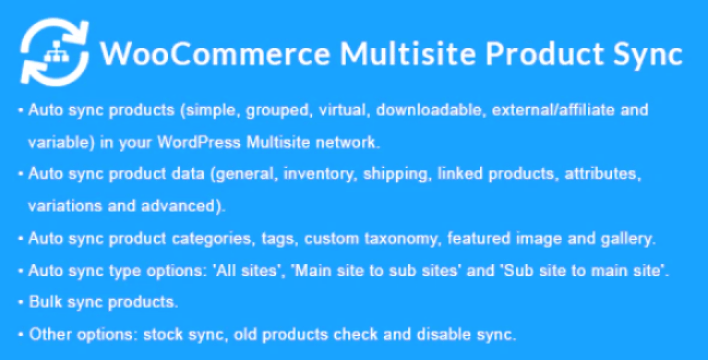 Woocommerce multisite product sync plugin wordpress