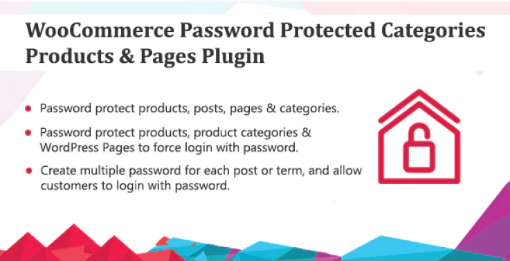 Woocommerce password protected categories products pages plugin wordpress