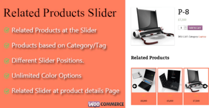 WooCommerce Related Products Slider plugin wordpress