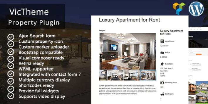 Wordpress property real estate plugin wordpress immobilier