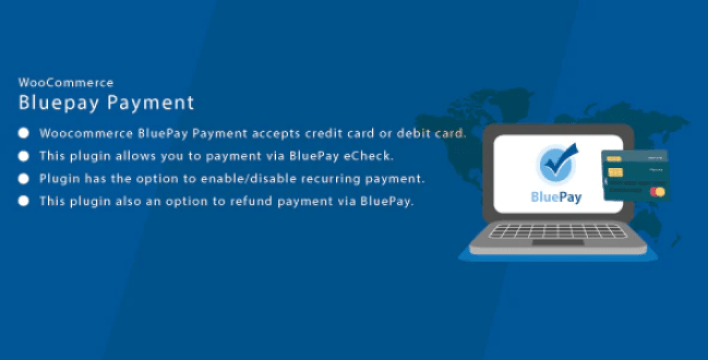Wordpress woocommerce bluepay cc ach payment gateway plugin wordpress