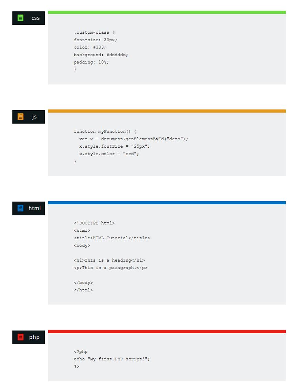 Aperçu de code possible avec divi