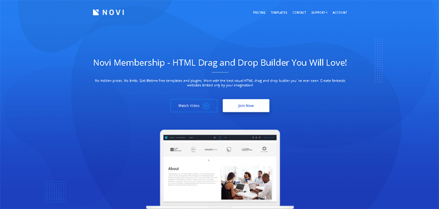 Novi HTML Visual Builder Review