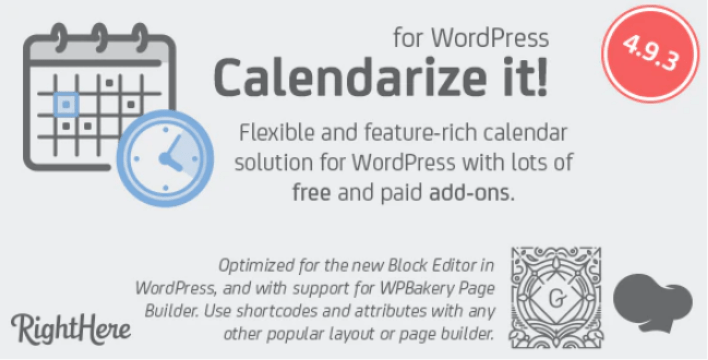 Calendarize it for WordPress by RightHere CodeCanyon