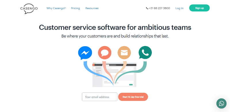 Flexible customer service and helpdesk software casengo
