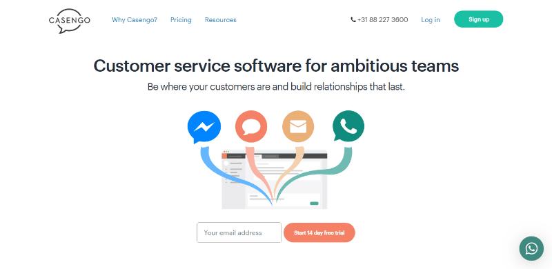 Flexible customer service and helpdesk software casengo