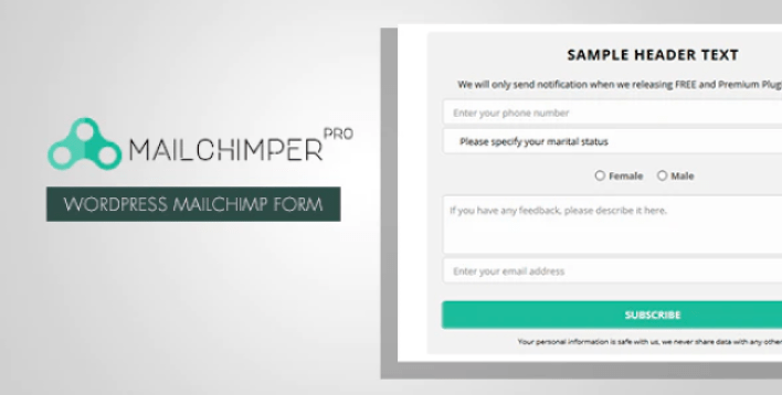 Mailchimper pro wordpress mailchimp signup form plugin wordpress