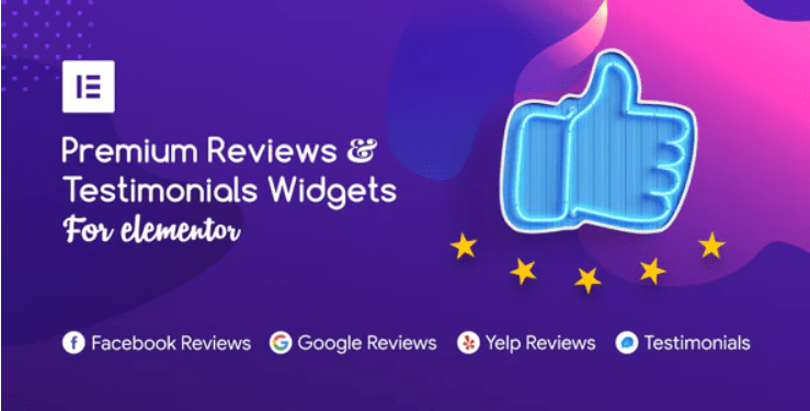Premium reviews testimonials widgets for elementor