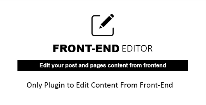 Wp quick front end editor wordpress plugin by labibahmed codecanyon