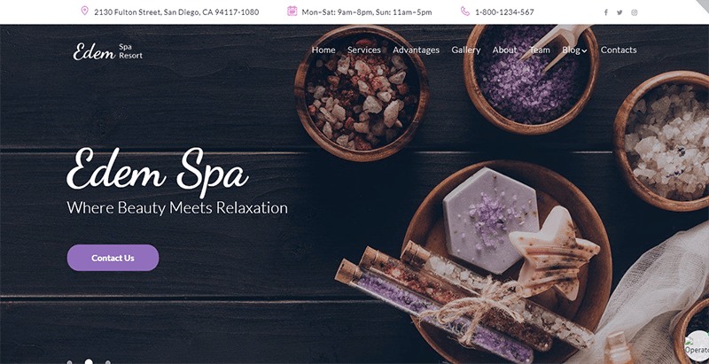 Eden Theme Wordpress Spa