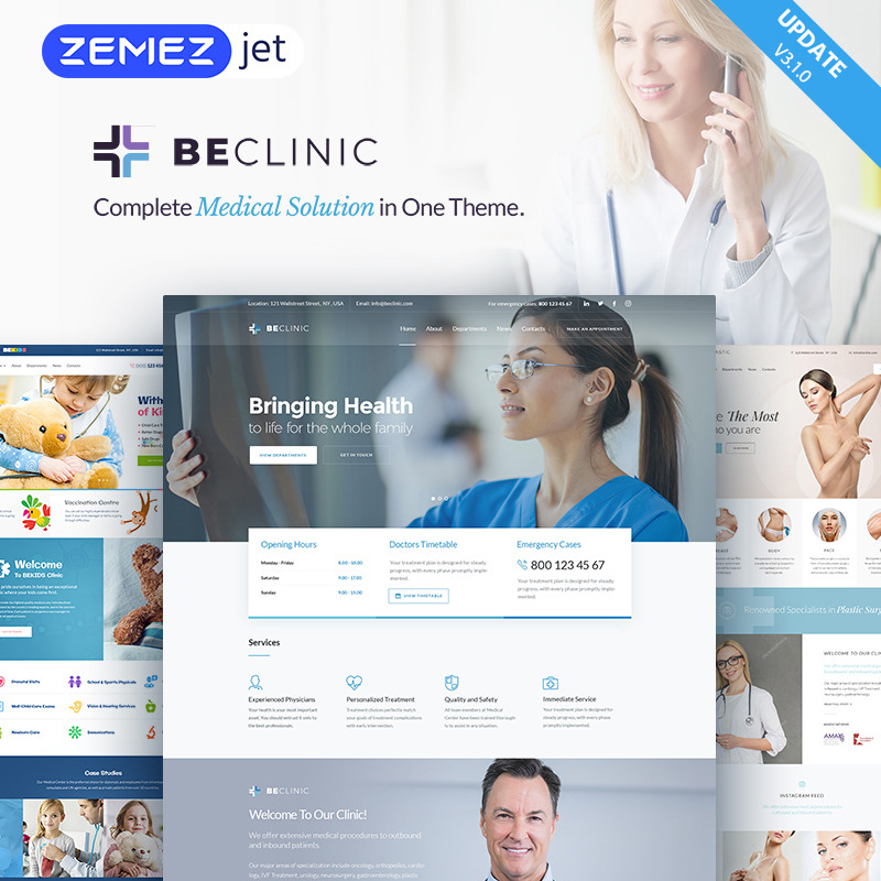 BeClinic - многоцелевой медицинский