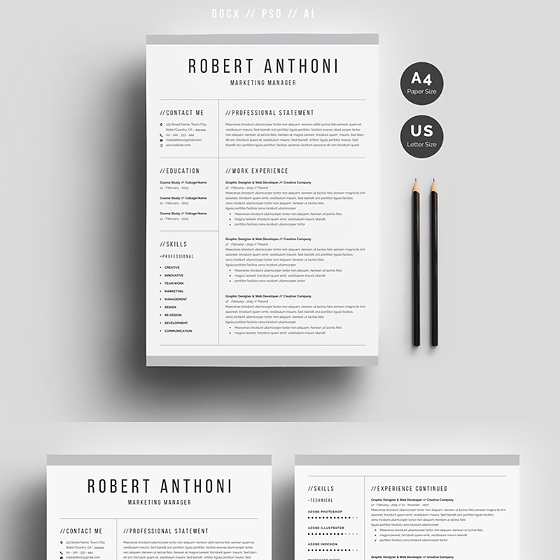 Robert Anthoni Clean Szablon CV