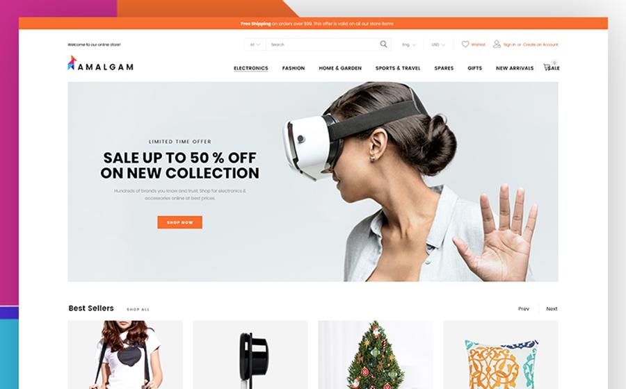 Amalgam – thème Magento pour magasin de vente en gros