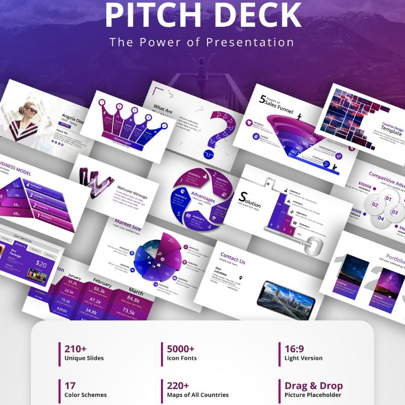 Pitch Deck Adaptive PowerPoint Vorlage