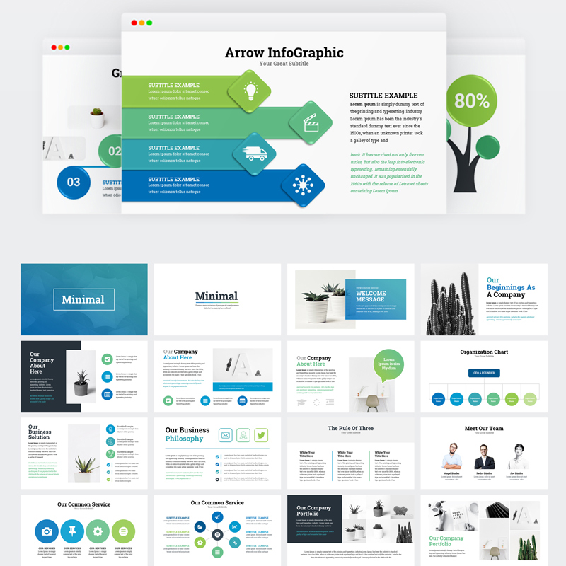 Business Infographic Presentation modèle Keynote