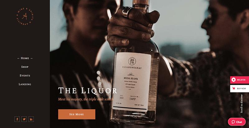 Apéritif theme wordpress vente en ligne vin