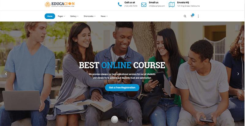 Educacion theme wordpress creer site web education