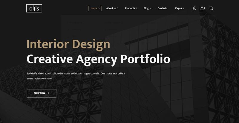 Ollis theme wordpress créer site web entreprise construction architecture