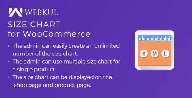 Product size chart plugin for woocommerce plugin wordpress