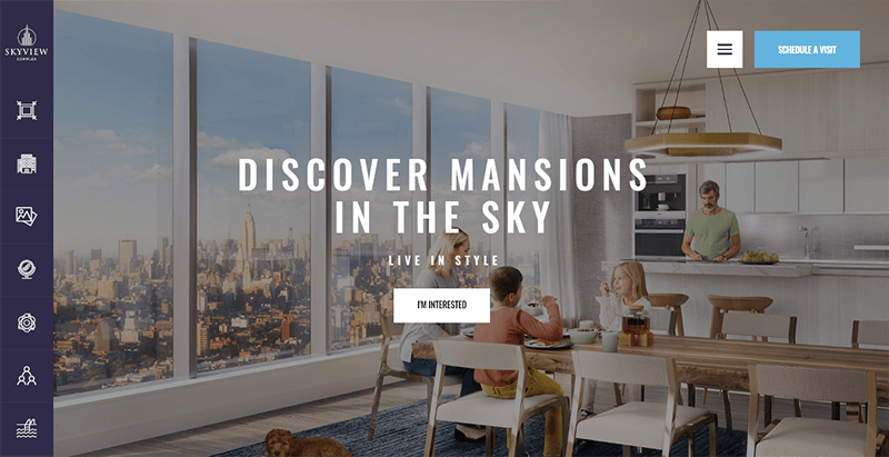 Skyview complex theme wordpress creer site web agence immobilière