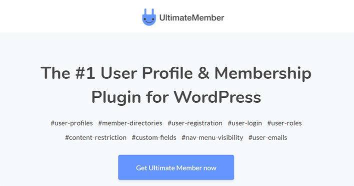 Ultimate member plugin wordpress protection contenu